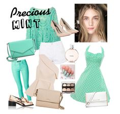"""Mint and Mint"" by putrinazarudin on Polyvore featuring J Brand, Topshop, C/MEO COLLECTIVE, Christian Dior, Kate Spade, MICHAEL Michael Kors, Sophia Webster and STELLA McCARTNEY"