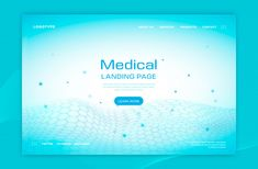 Medical landing page Free Vector | Free Vector #Freepik #freevector #background #abstract #technology #geometric