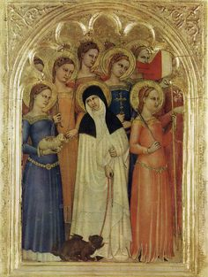 Giovanni da Milano: Virgins. - check out the hem on the right.