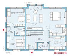 Einfamilienhaus mit kleiner einliegerwohnung grundriss  Grundriss der 1 Zimmer Wohnung | Häuser | Pinterest | Grundrisse ...