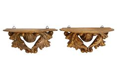 Florentine Acanthus Leaf Shelves, Pair on OneKingsLane.com