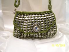 small olive Poptabs Purse ♡ by PoptabsPurses on Etsy