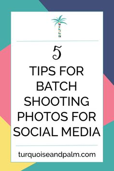 5 Tips for Batch Shooting Photos for Social Media | Make taking photos for your social media so much easier by batch shooting.  To learn more click through!