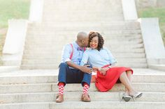 Lincoln Memorial engagement photo by Stephanie Kopf Photography