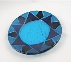 Beautiful Blues in a Fused Glass Bowl by AlteredElementsGlass on Etsy https://www.etsy.com/listing/53079865/beautiful-blues-in-a-fused-glass-bowl