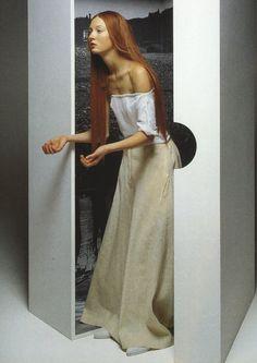 Inez and Vinoodh, 1998. Maggie Rizer in Yohji Yamamoto.