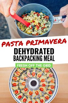 Fresh and filling, this dehydrated pasta primavera is not your typical backpacking fare. Loaded with zucchini, summer squash, and tomatoes, this meal offers that burst of vegetables that you've been craving after a few days on the trail. Dehydrated Backpacking Meals, Backpacking Food, Dehydrated Food, Ultralight Backpacking, Pasta Primavera, Camping Menu, Camping Foods, Camping Tricks, Camping Recipes