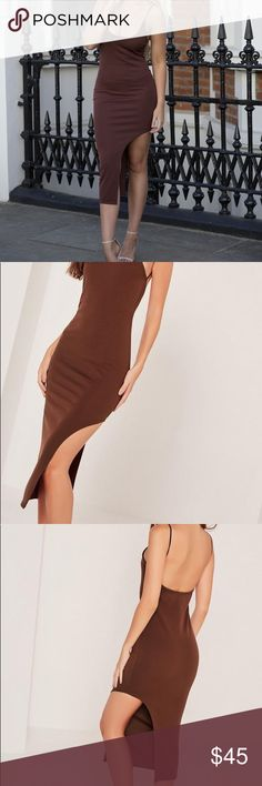 Racer thigh split midi dress Brand new never worn with tags Missguided Dresses Midi
