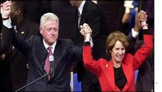 President Bill Clinton and Kathleen Kennedy Townsend