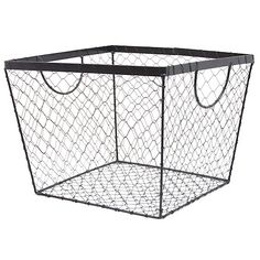 Stella Square Wire Utility - Black Lucky Clover Trading is a wholesale baskets distributor and importer of baskets wholesale through a wholesale gift basket suppplies company. Wire Baskets, Storage Baskets, Cheap Baskets, Wire Storage, Toy Storage, Shabby Chic Vintage, Shabby Chic Decor, Cheap Storage Containers, Square Baskets