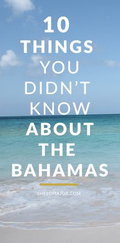 Counting down the days until your trip to The Bahamas? Here are a few things that you may not know about the popular tourist destination. Bahamas Vacation All Inclusive, Bahamas Honeymoon, Bahamas Cruise, Vacation Trips, Bahamas Trip, Caribbean Cruise, Vacations, Bahamas Eleuthera, Atlantis Bahamas