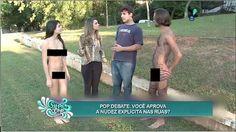 Um casal sem roupas foi a um parque em São Paulo para verificar o que as pessoas pensam sobre a nudez e o naturismo. Veja as reações.