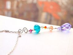 Y necklace with interchangeable pendant