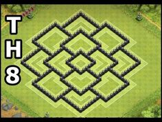 Clash of Clans Town Hall 8 War & Trophy Base | Best CoC TH8 4 Mortars War Base Design by GameDiceHD - YouTube