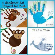 8 Handprint Art Projects for kids!
