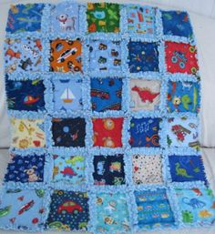 flannel and minky baby rag quilt