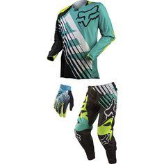 Fox Racing 2015 360 Combo - Savant Have had my eye on these Bmx Gear, Dirt Bike Gear, Motocross Gear, Snowboarding Gear, Dirt Biking, Motocross Outfits, Motocross Girls, Bike Suit, Motorcycle Suit