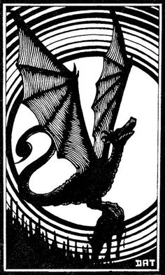 Wyvern by Dave Trampier, AD&D Monster Manual, TSR, 1977.