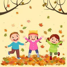 Happy Cartoon, Cartoon Kids, Girl Cartoon, Art Drawings For Kids, Drawing For Kids, Kids Vector, Vector Free, Little Girl Singing, Halloween Frames