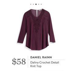 Stitch Fix: Daniel Rainn Dalina Crochet Detail Knit Top $58