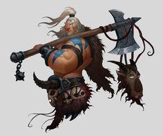 ArtStation - Barbarian, huimei YE
