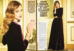 Chiara ferragni... Hola Espana January 2014