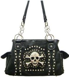 YES PLEASE!!!! NEW Black BLING Rhinestone Studded SKULL Purse Bag FREE SHIPPING
