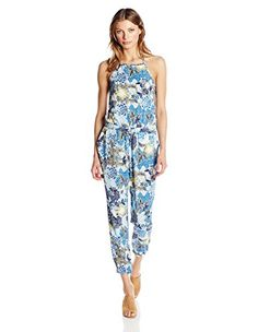 7afd81d65a6 Jack by BB Dakota Women s Garnett Wandering Floral Printed Rayon Challis  Jumpsuit Spring Fashion Casual