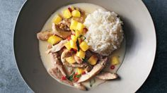 In this brothy dish, the chicken is partially covered by liquid and quick-braised on the stove top.
