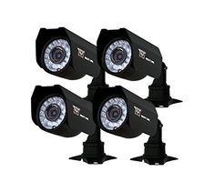 Night Owl Security CMOS Cameras with of Cable, Night Vision, 4 Pack (Black) Video Surveillance Cameras, Surveillance Equipment, Security Surveillance, Surveillance System, Amazon Advertising, Photo Store, Home Security Systems, Video Camera, Night Vision