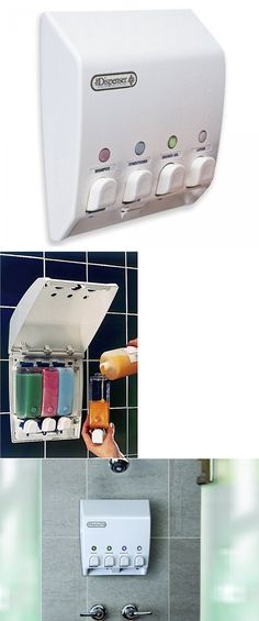 Soap Dishes And Dispensers 25451 Bathroom Shower 4 Chamber Liquid Dispenser Pump Shampoo Conditioner