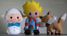 Bonecos Pequeno Príncipe, Raposa e Ovelha. Também pode ser usado como topo de bolo. R$ 136,00
