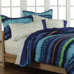 Brody in Green and Blue Plaid Comforter Sets by Mizone Adult and