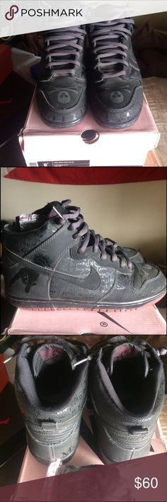 Nike Dunk High Pro SB Melvins Used condition as pic tells all. Size 9.5 Nike Shoes Sneakers