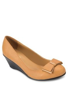 Camel Ballerina Wedges from SENTINI in brown_1
