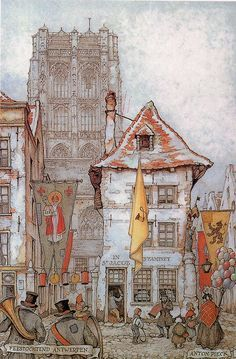 Antwerp, Belgium (by Anton Pieck, a Dutch artist)
