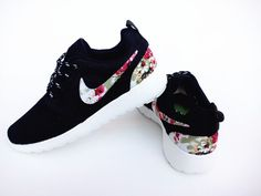 Nike Roshe Run Mesh Black Flower For Men and Women