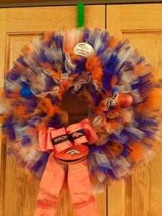 Tulle Denver Broncos wreath