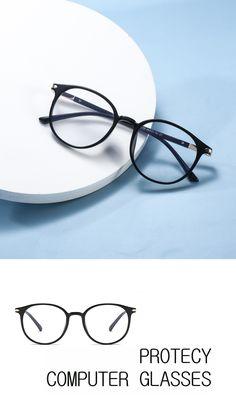 Anti Glare Glasses, How To Relieve Headaches, Computer Glasses, Eye Strain, Eyewear, Lenses, Light Blue, Women, Eyeglasses