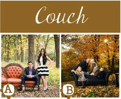 A couch outdoors is possible. We have a lot of furniture in the shed that we can use.