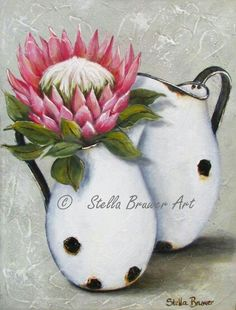 The Most Helpful Arts And Crafts Advice Protea Art, Protea Flower, Arts And Crafts Projects, Arts And Crafts Supplies, Diy Crafts, Bull Painting, Farm Paintings, World Crafts, Decoupage Vintage