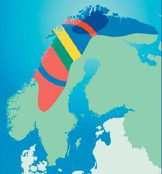 Sapmi, Sami territory with Sami map overlay, samisk