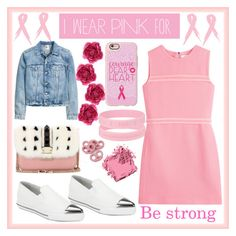 """""""#IWearPinkFor"""" by poorvashikalra ❤ liked on Polyvore featuring Casetify, Bobbi Brown Cosmetics, Victoria, Victoria Beckham, Gucci, Miu Miu, Valentino and IWearPinkFor"""