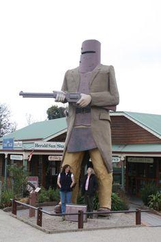 Bushranger history at Glenrowan. Great day trip out of Melbourne