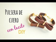 Como hacer una pulsera de cuero plano, How to make a bracelet with flat leather cord (English CC) - YouTube
