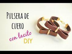 Como hacer una pulsera de cuero plano, How to make a bracelet with flat leather cord (English CC) - YouTube