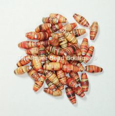 Paper Beads Loose Handmade Supplies Fall by ThePaperBeadBoutique