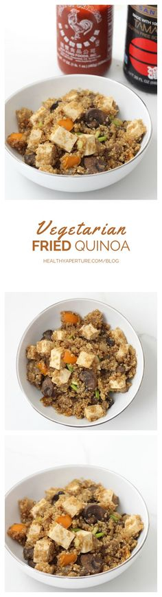 This Fried Quinoa recipe by @memeinge is a great way to use leftovers and tofu to make an inexpensive vegetarian meal