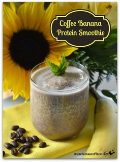 Coffee Banana Protein Smoothie - a delicious and healthy way to start your morning!  Get the recipe at www.tootsweet4two.com.