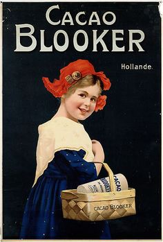 Vintage Dutch Blooker cacao ad